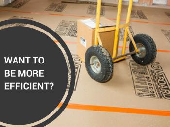 How floor protection increases efficiency